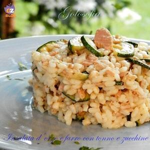 insalata d'orzo e farro con tonno e zucchine-ricetta primi-golosofia