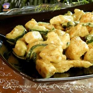 Bocconcini di pollo al curry e zucchine-ricetta secondi-golosofia