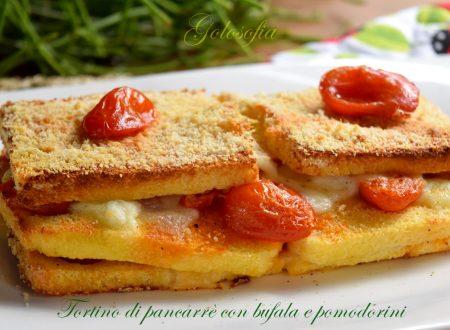 Tortino di pancarrè con bufala e pomodorini, ricetta gustosa