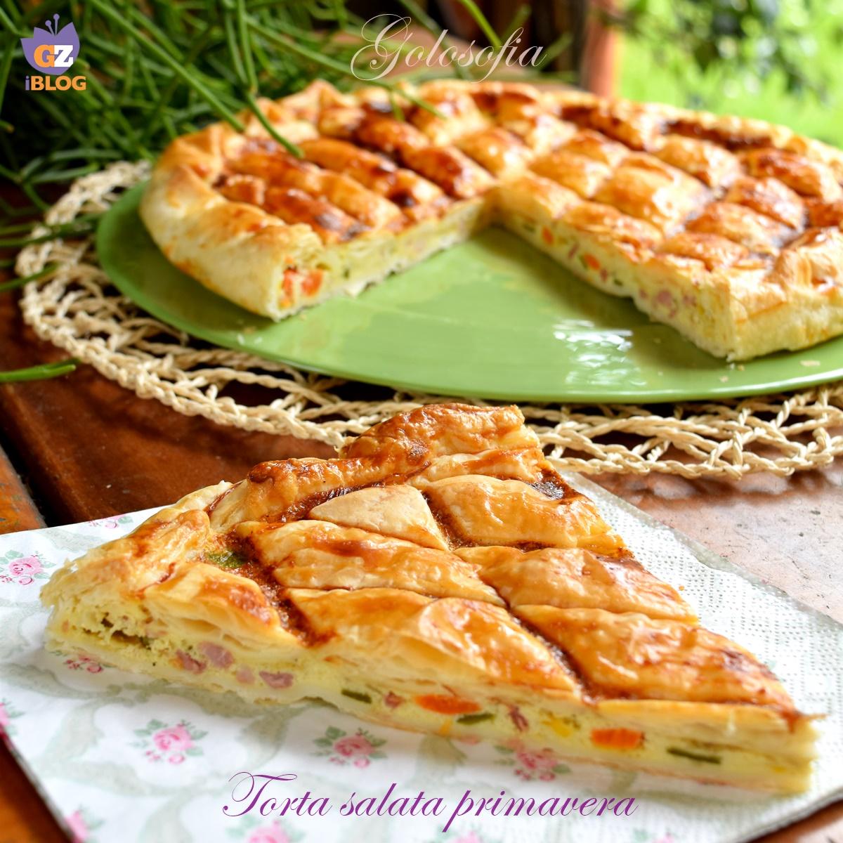Torta salata primavera-ricetta torte salate-golosofia