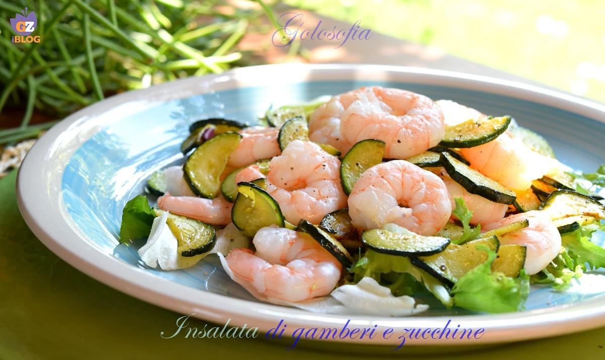 Insalata di gamberi e zucchine, ricetta gustosa leggera