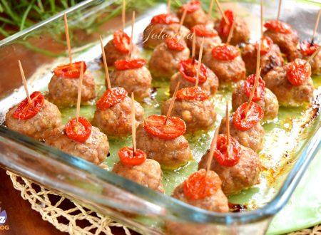 Polpette al forno con pomodorini, ricetta gustosissima