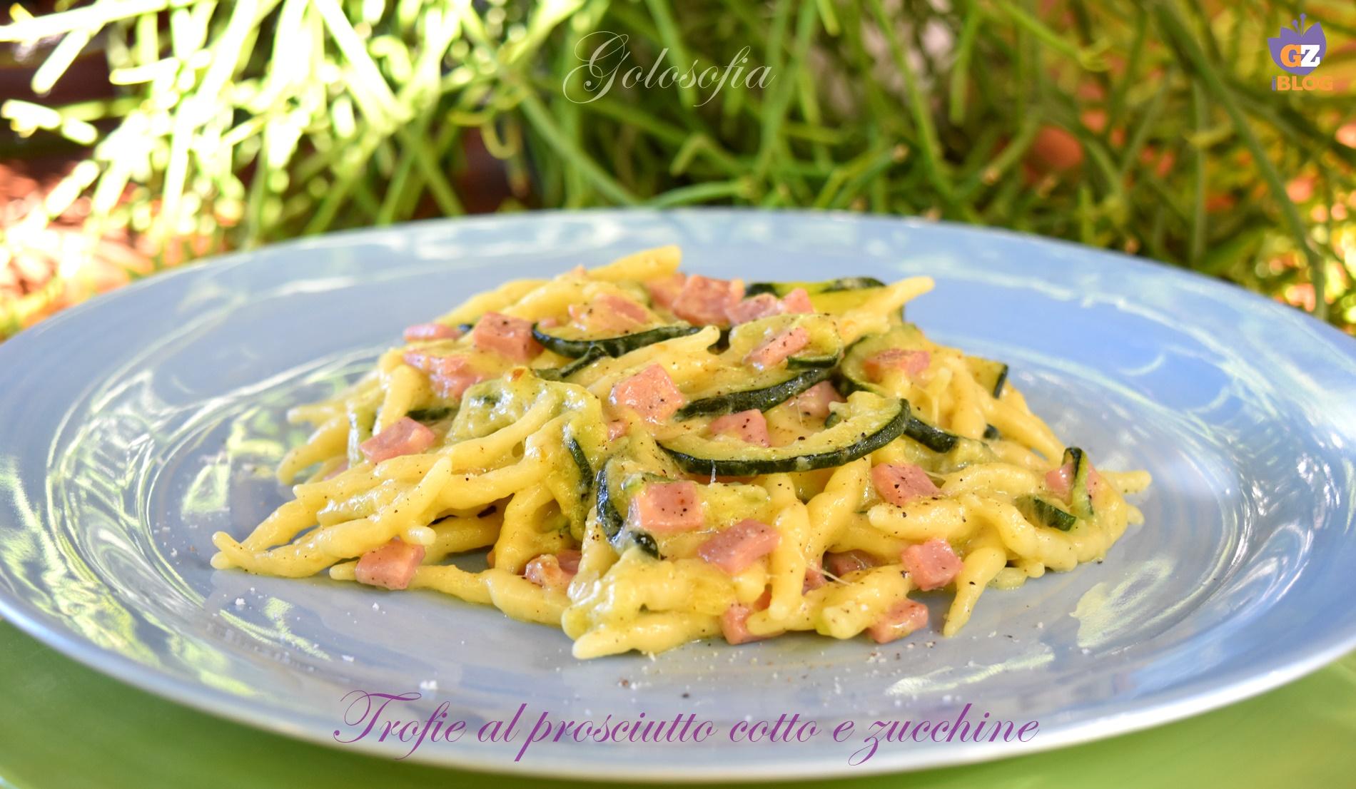 Trofie al prosciutto cotto e zucchine, ricetta cremosa