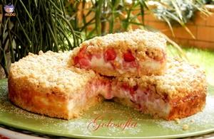 Sbriciolata con crema di ricotta e fragole-ricetta torte-golosofia