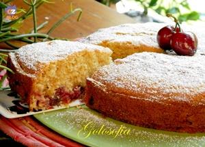 Torta soffice alle ciliegie-ricetta torte-golosofia
