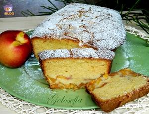 Plumcake alle pesche-ricetta dolci-golosofia