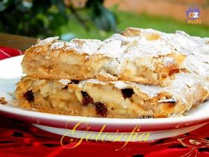 Strudel di mele con pasta sfoglia-ricetta dolci-golosofia