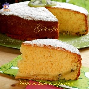 Torta ai kiwi con panna-ricetta torte-golosofia