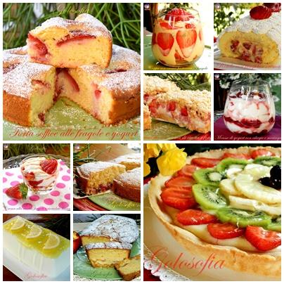 Raccolta di dolci alla frutta
