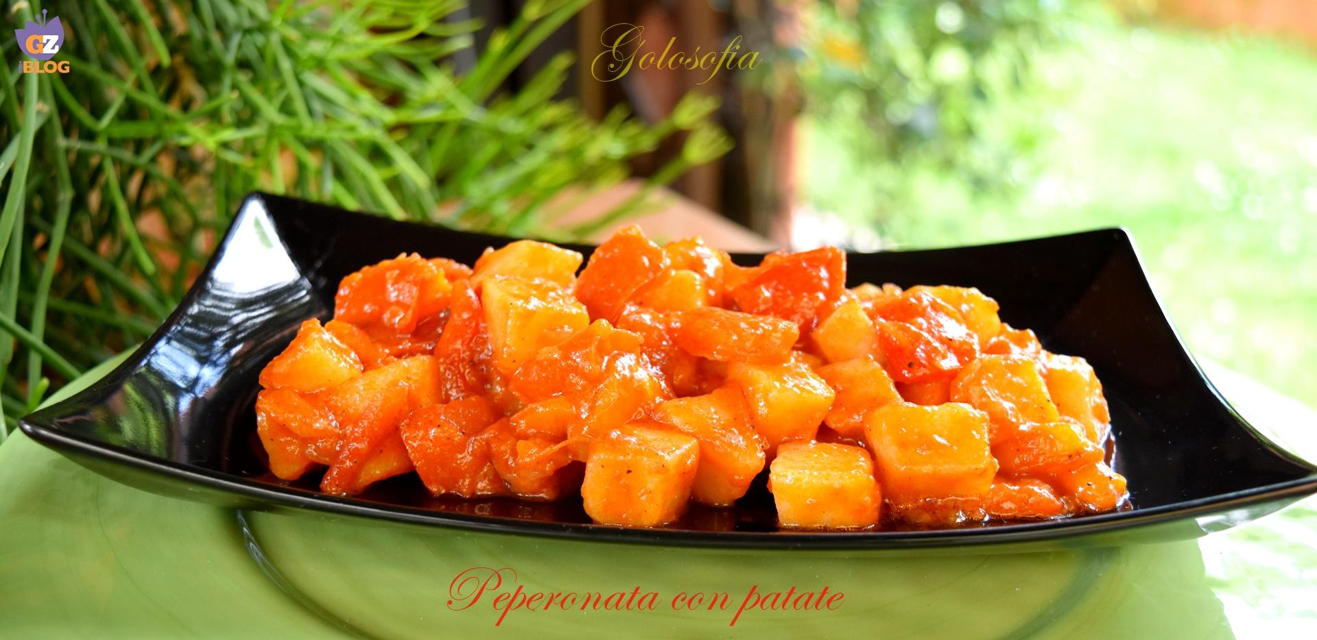 Peperonata con patate, ricetta contorni