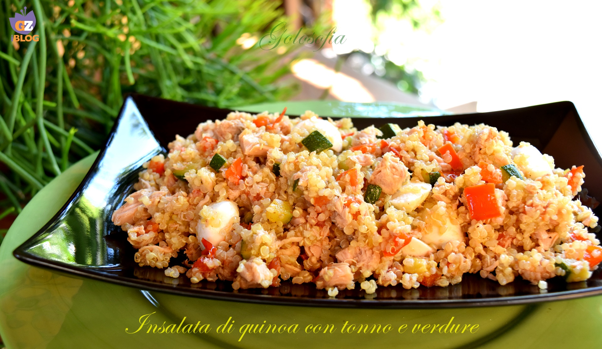 Insalata di quinoa con tonno e verdure-ricetta estiva-golosofia