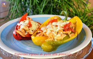 Peperoni ripieni di pollo alla pizzaiola-ricetta estiva-golosofia