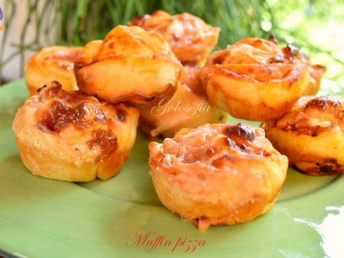 Muffin pizza, ricetta golosa veloce