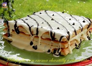 Millefoglie con crema chantilly e cioccolato-ricetta dolci-golosofia