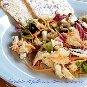Insalata di pollo con olive e maionese-ricetta estiva-golosofia