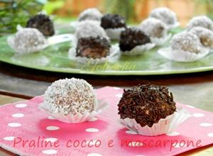 Praline al cocco e mascarpone-ricetta dolci-golosofia