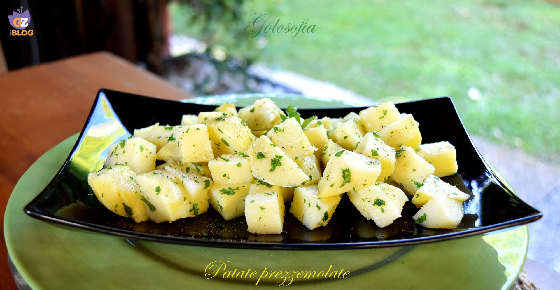 Patate prezzemolate, ricetta leggera contorni