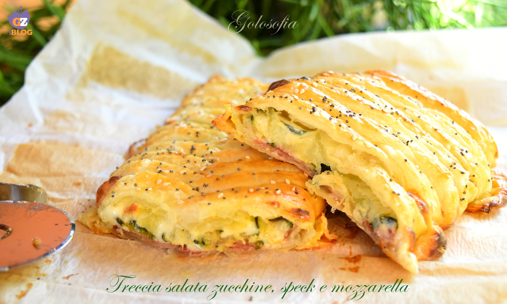 Treccia salata zucchine, speck e mozzarella, ricetta antipasti