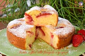 torta soffice alle fragole e yogurt-ricetta torte-golosofia