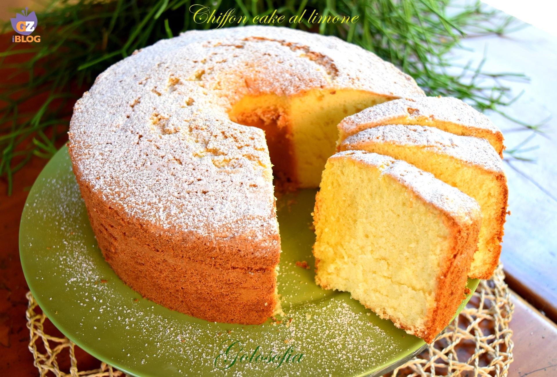 Chiffon cake al limone, ricetta sofficissima fantastica!