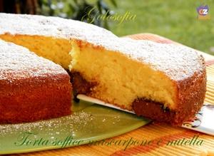 Torta soffice al mascarpone e nutella-ricetta torte-golosofia