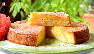 Torta di pesche cremosa-ricetta torte-golosofia