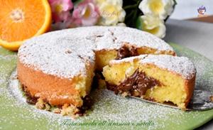 Torta nuvola all'arancia e nutella-ricetta torte-golosofia