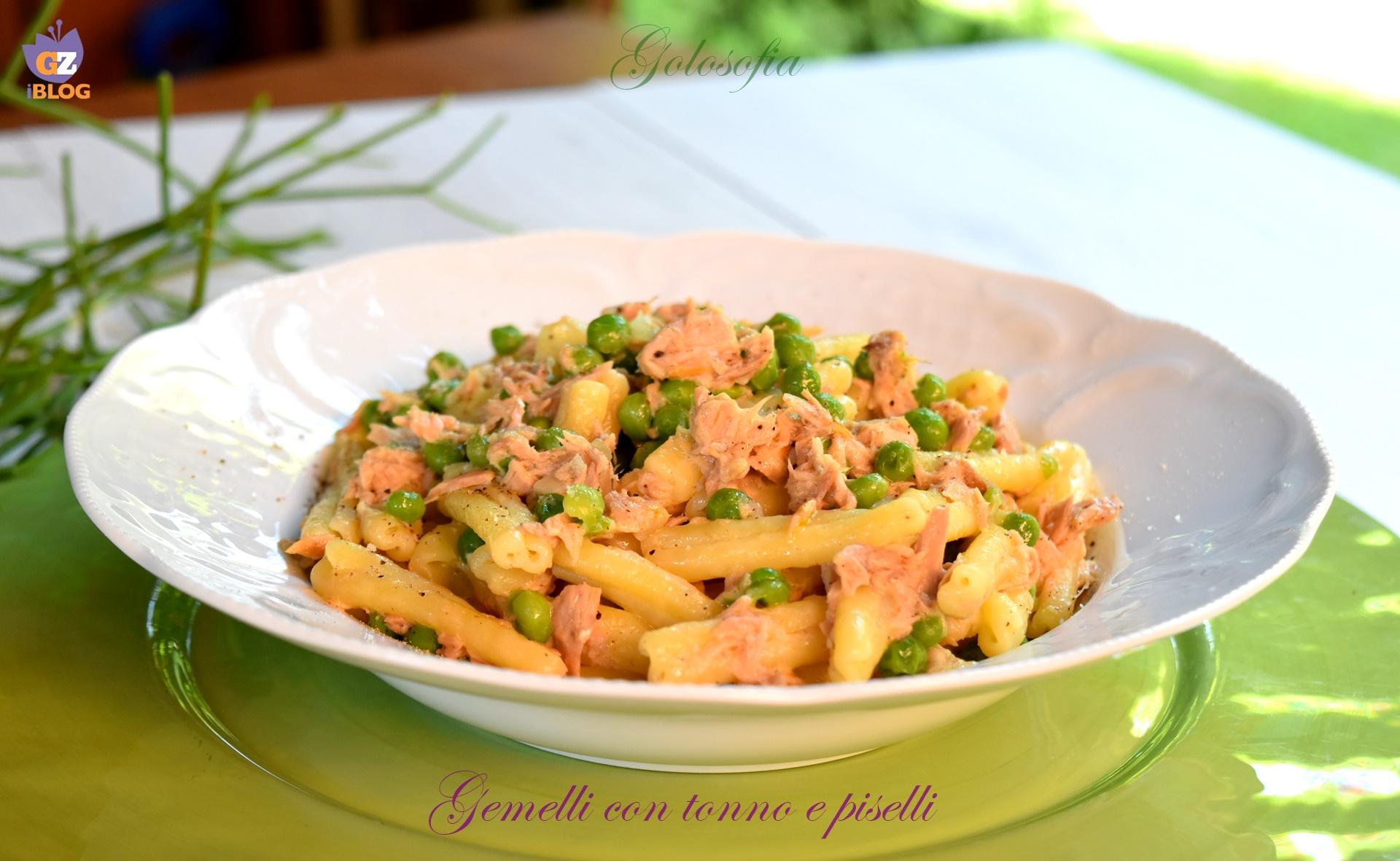 Gemelli con tonno e piselli, ricetta semplice e gustosa