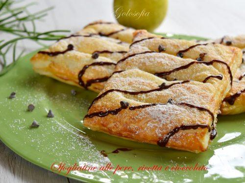 Sfogliatine alle pere, ricotta e cioccolato, ricetta golosissima!