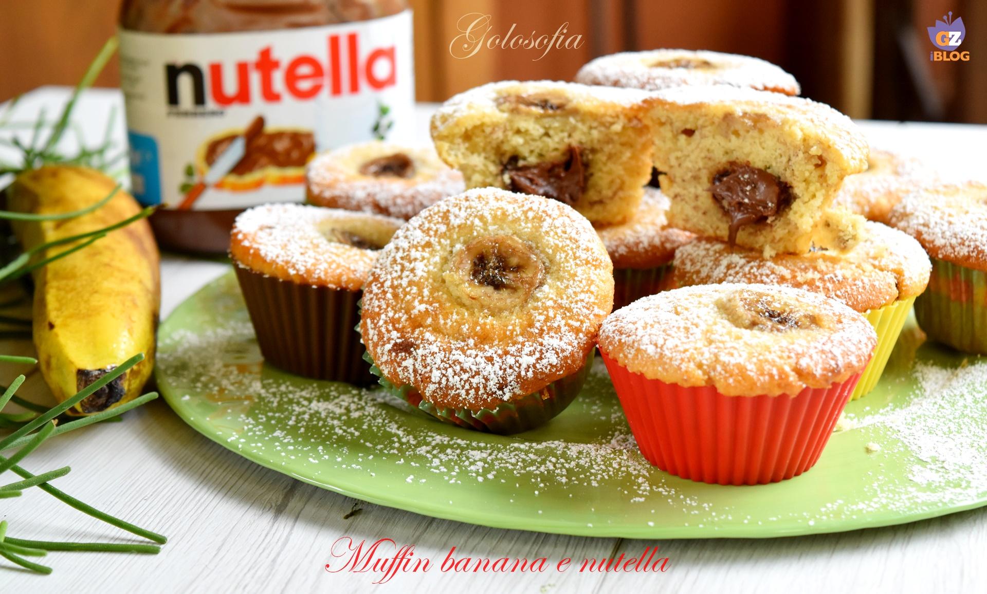 Muffin banana e nutella-ricetta dolci-golosofia