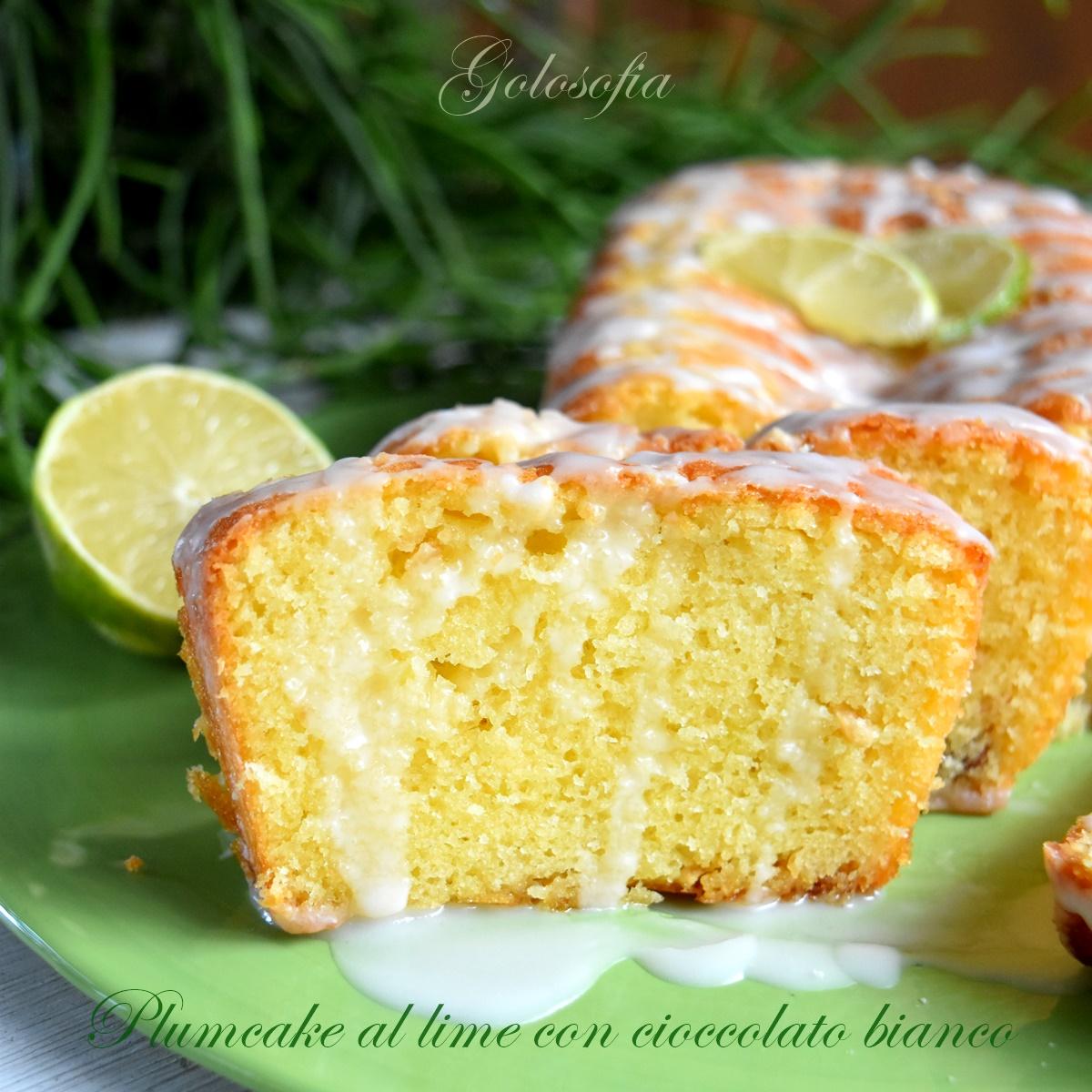 Plumcake al lime con cioccolato bianco-ricetta dolci-golosofia
