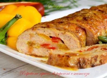 Polpettone ripieno di peperoni e scamorza, ricetta buonissima!