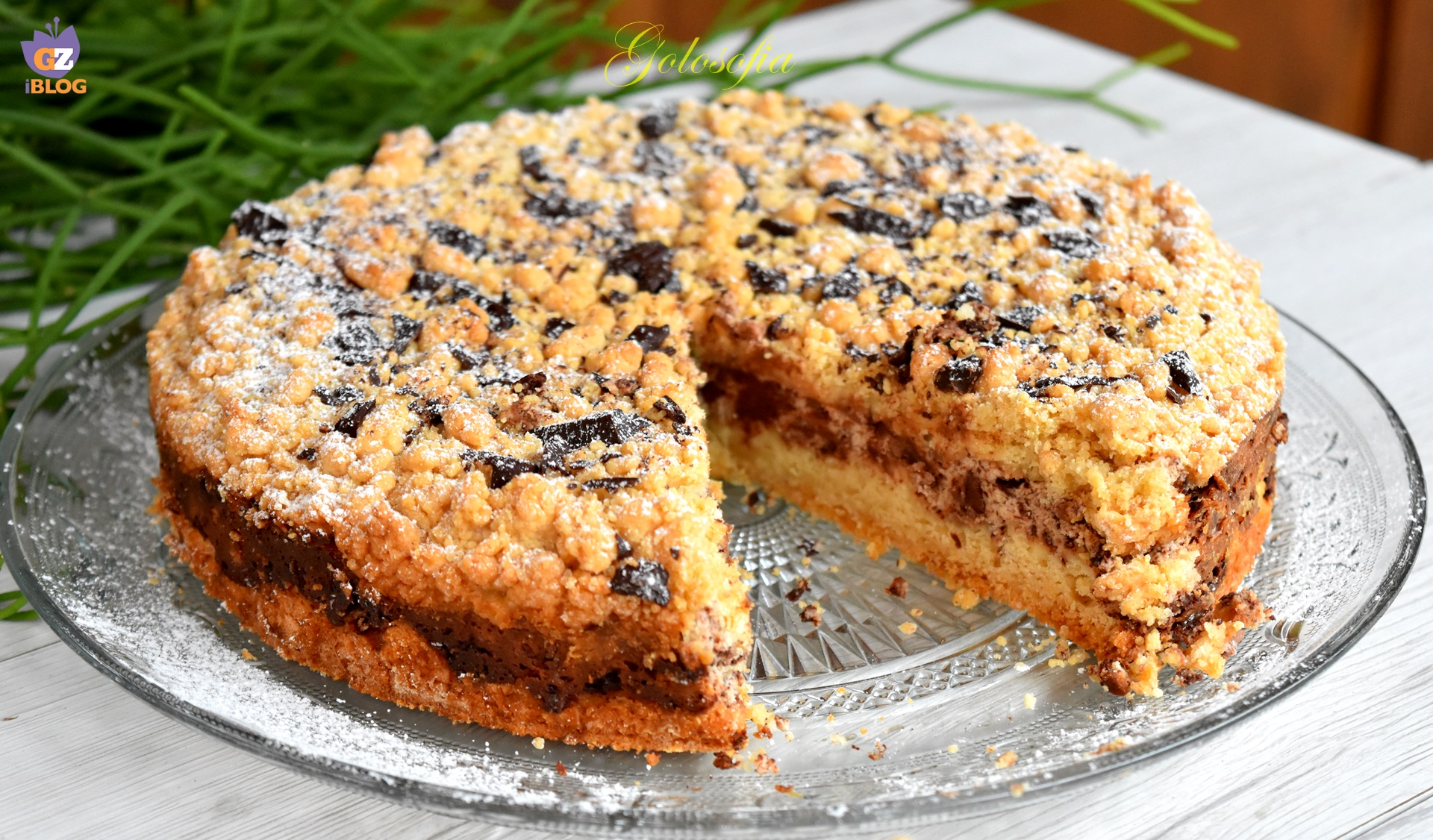 Torta di ricotta e cioccolato-ricetta torte-golosofia