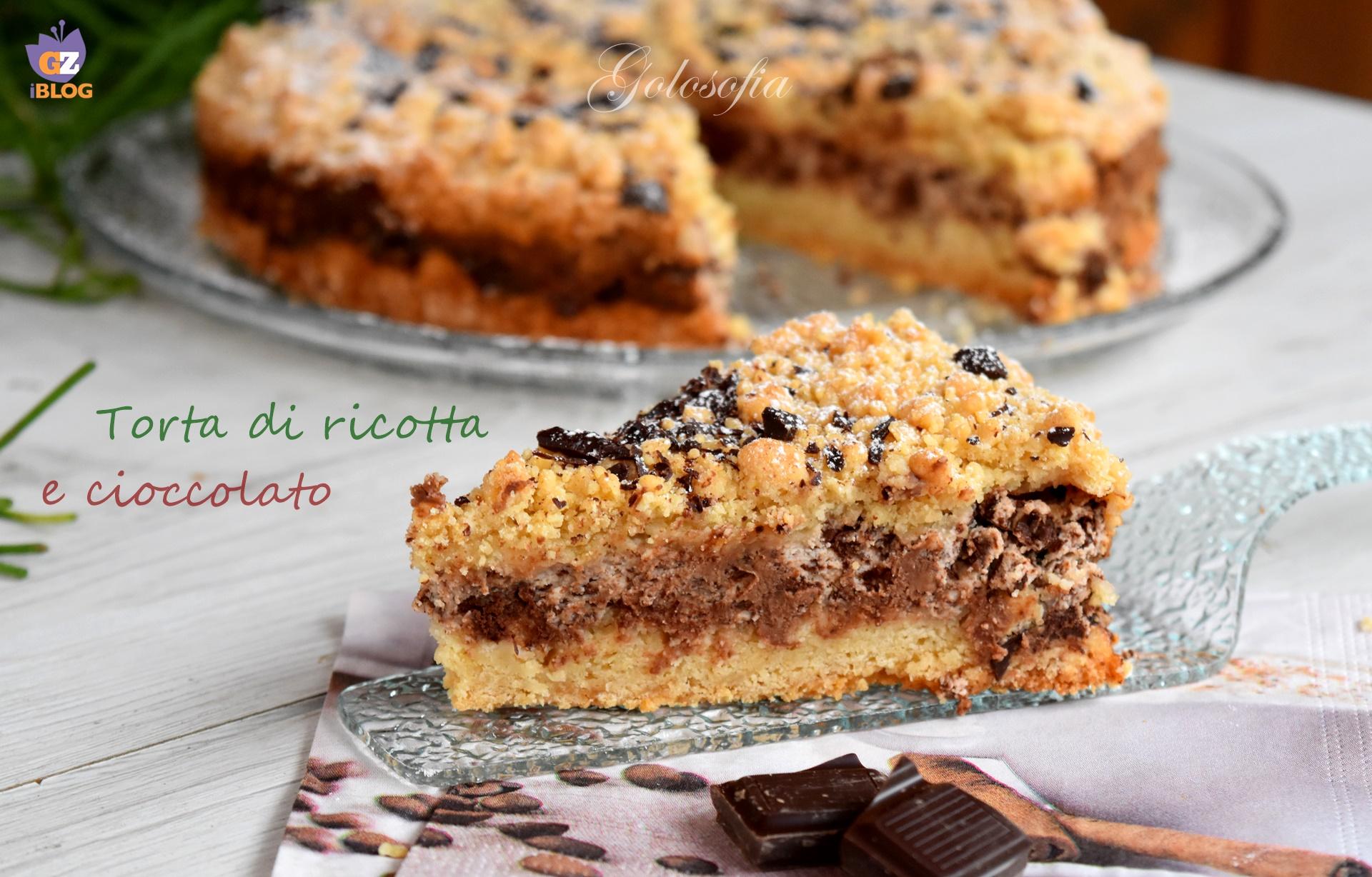 Torta di ricotta e cioccolato, ricetta veloce golosissima!