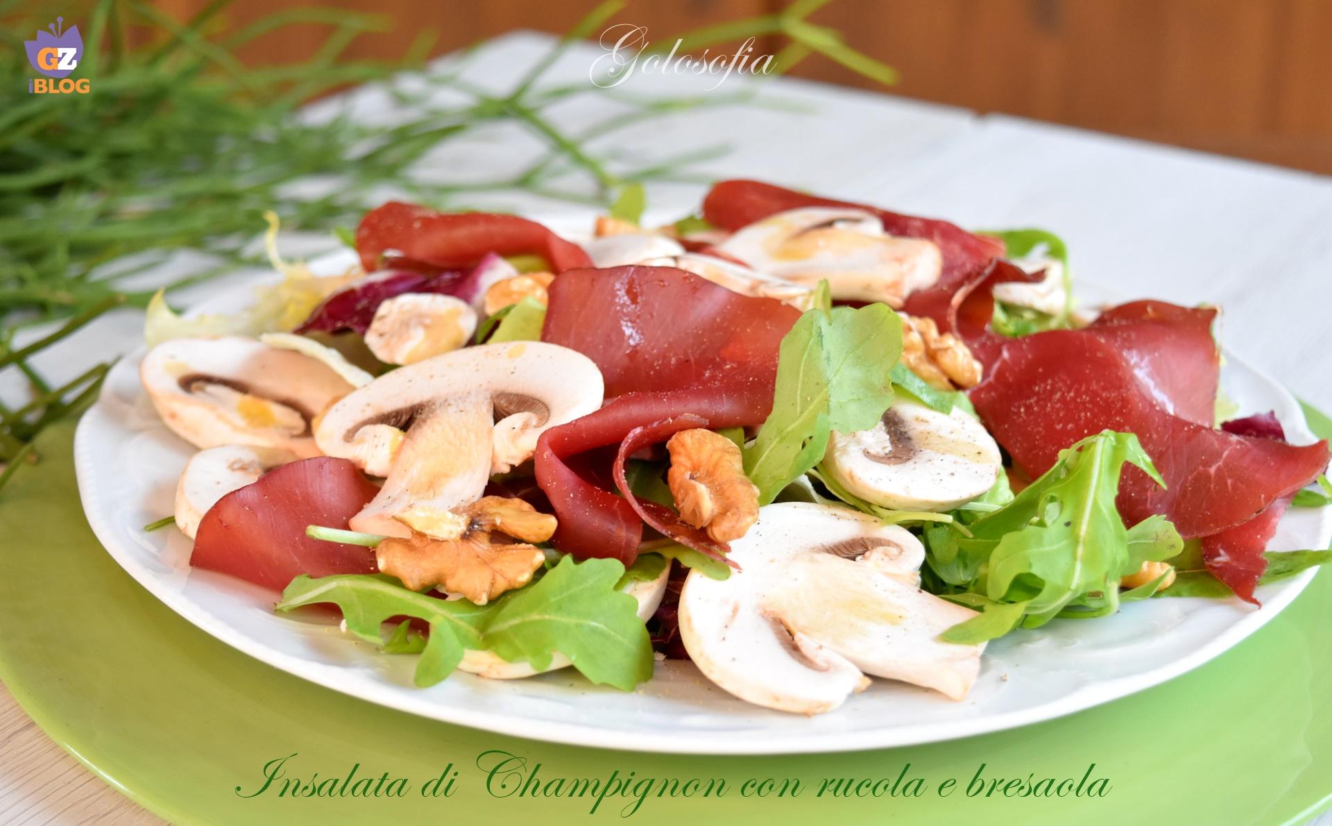 Insalata di Champignon con rucola e bresaola, ricetta gustosissima