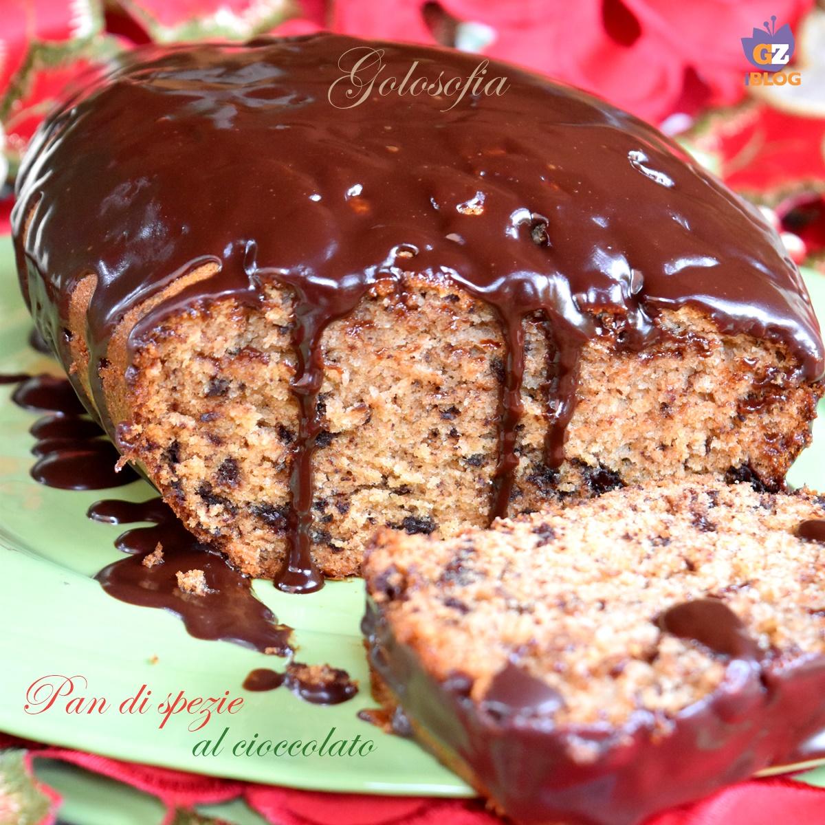 Pan di spezie al cioccolato-ricetta dolci-golosofia