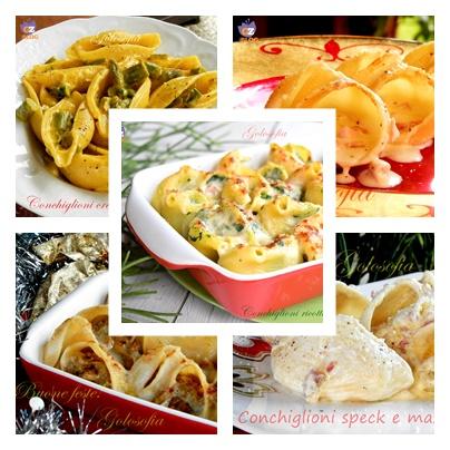 Raccolta di ricette Conchiglioni cremosi, ricche e golose!