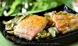 Filetti di salmone al curry e zucchine-ricetta secondi-golosofia