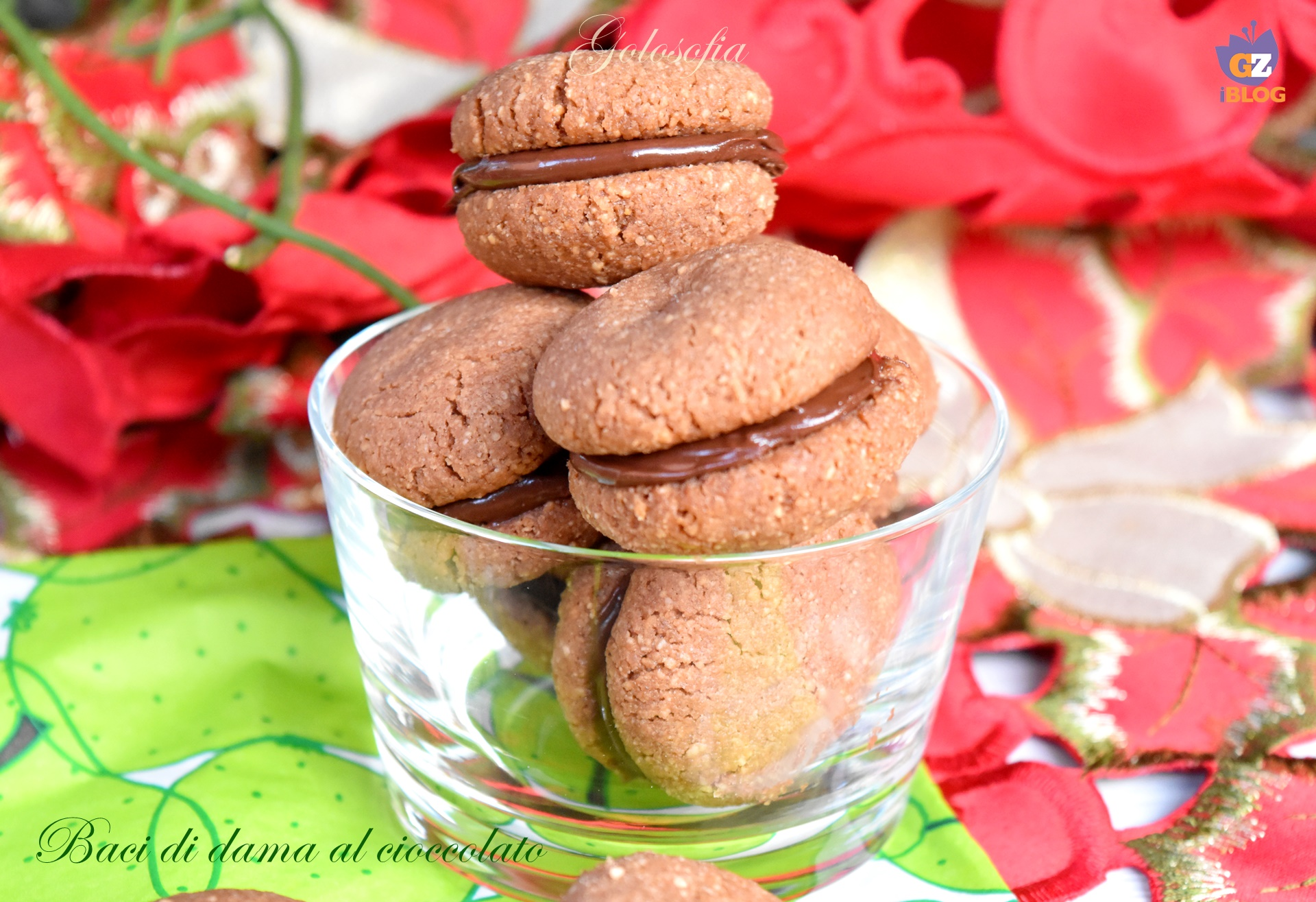 Baci di dama al cioccolato-ricetta biscotti-golosofia