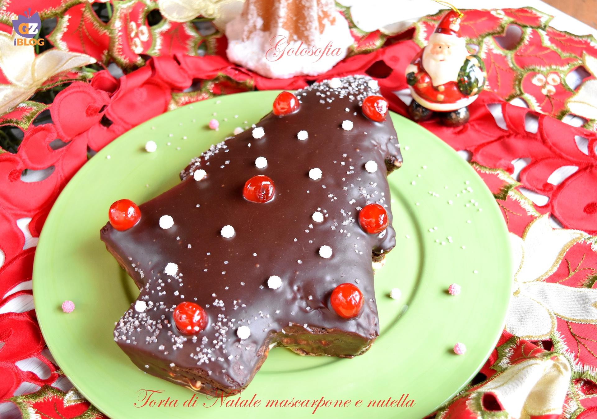 Torta di Natale mascarpone e nutella-ricetta torte-golosofia