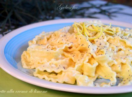 Reginette alla crema di limone, ricetta buonissima!