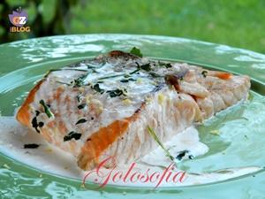 Salmone in salsa al limone-ricetta secondi-golosofia
