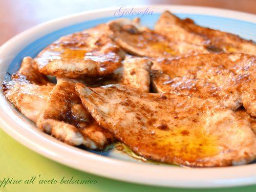 Scaloppine all'aceto balsamico, ricetta veloce gustosissima