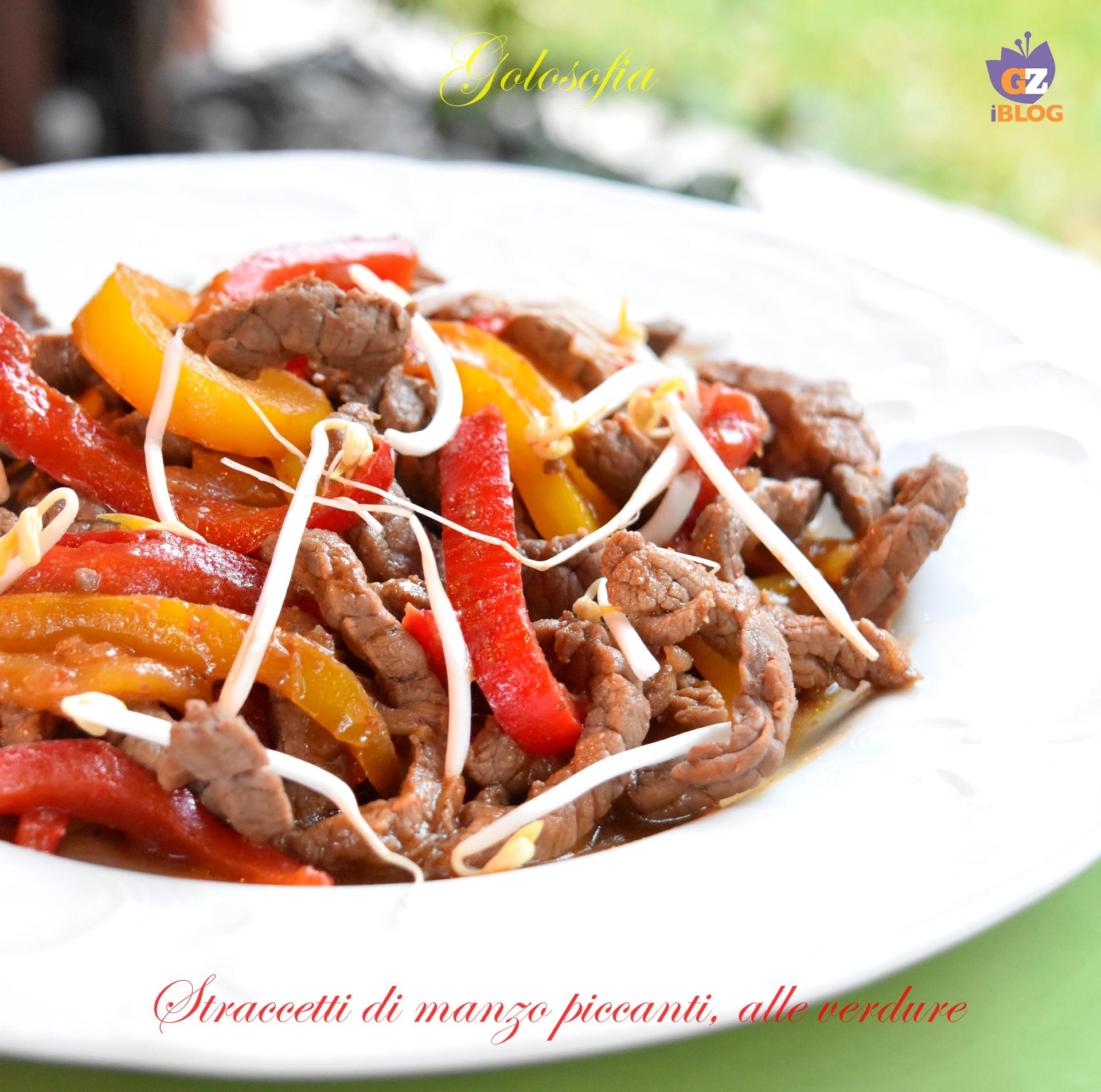 Straccetti di manzo piccanti, alle verdure, ricetta veloce e gustosa