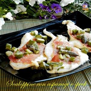 Scaloppine con asparagi e speck-ricetta secondi-golosofia