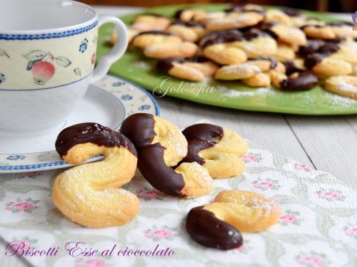 Biscotti Esse al cioccolato, ricetta semplice e golosissima