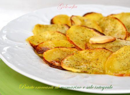 Patate croccanti al rosmarino e sale integrale, ricetta sfiziosissima