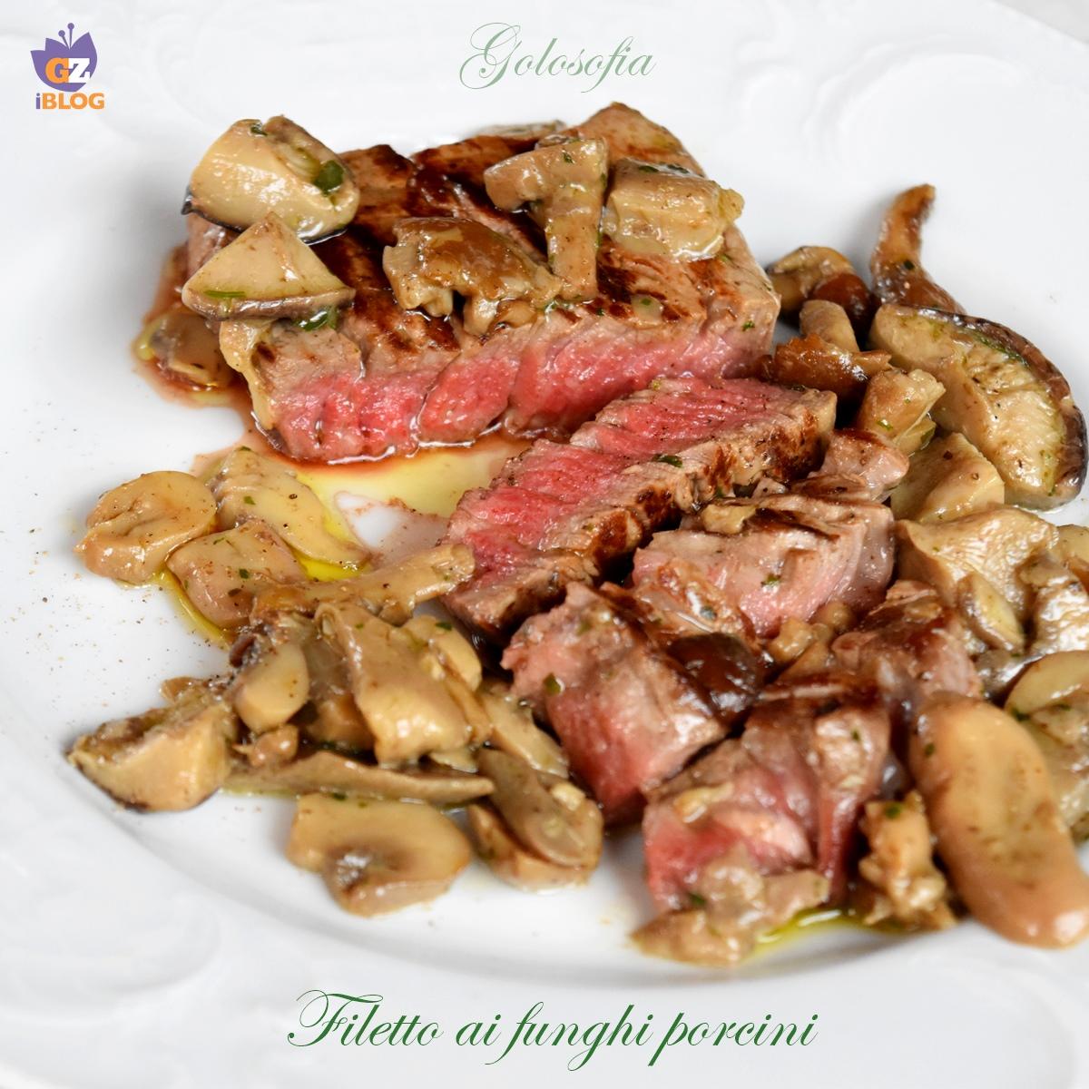 Filetto ai funghi porcini-ricetta secondi-golosofia