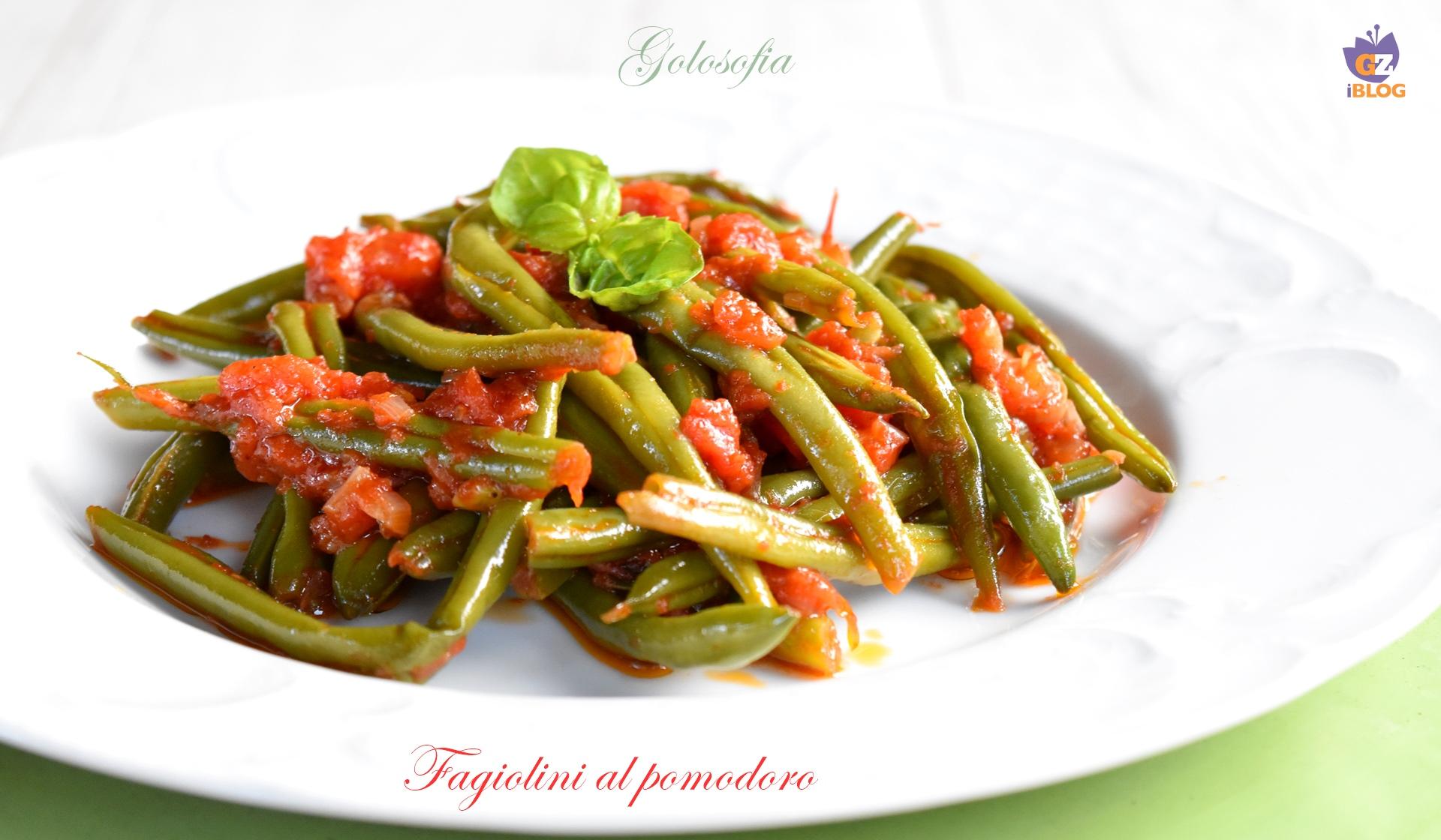 Fagiolini al pomodoro-ricetta contorni-golosofia