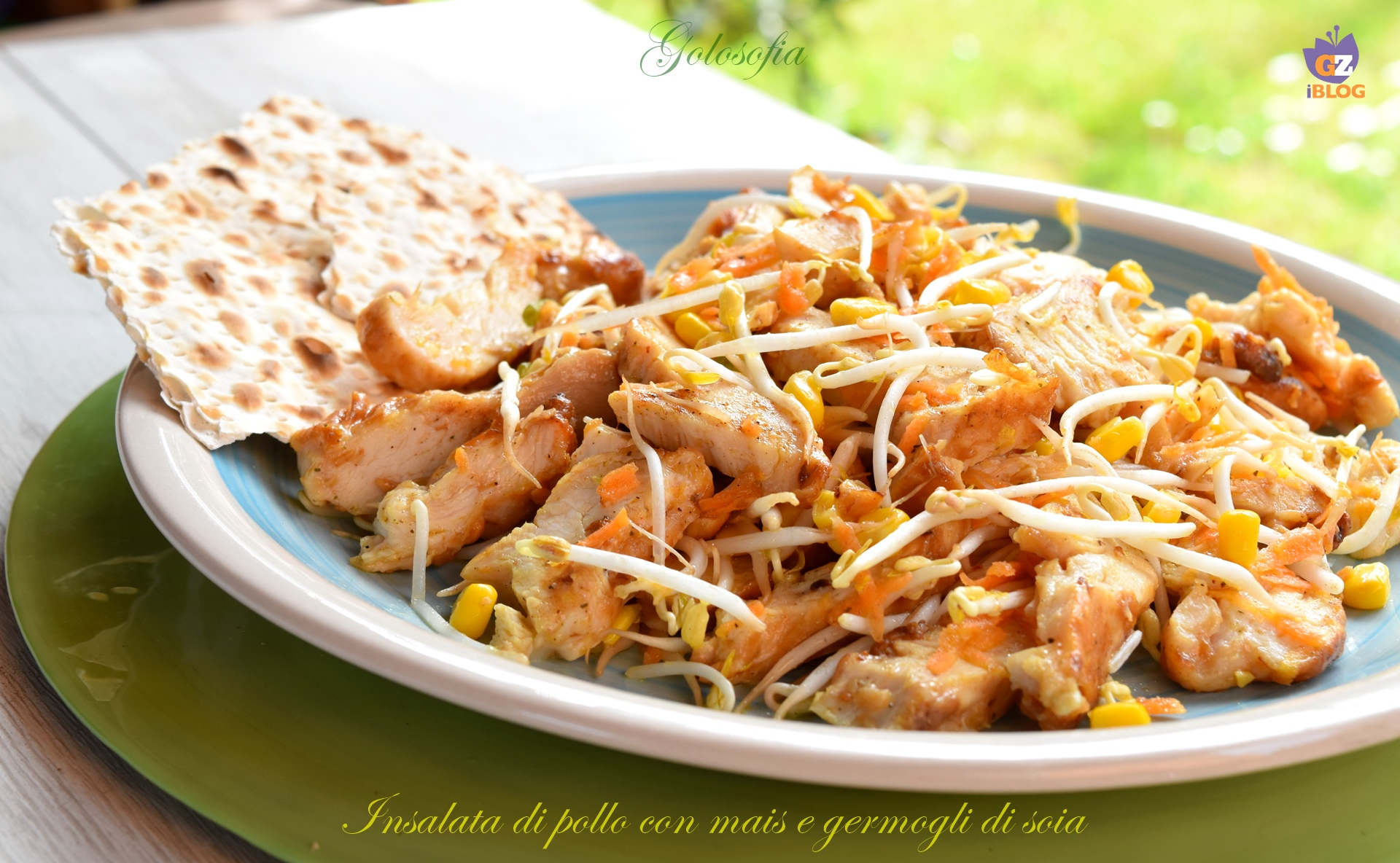 Insalata di pollo con mais e germogli di soia-ricetta secondi-golosofia